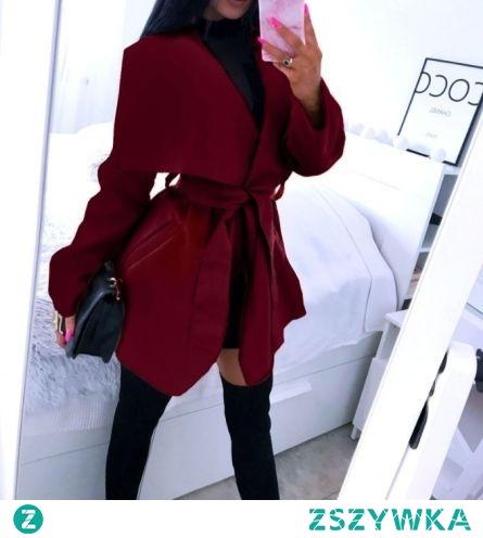WYPRZEDAŻ! 49 zł NOWY  płaszczyk w kolorze bordo przekierowanie po kliknięciu w zdjęcie