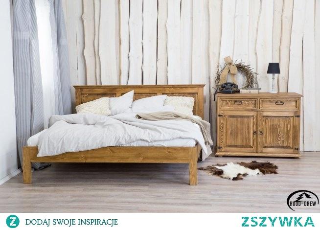 stylowe meble do sypialni z litego drewna wykończone ciemnym woskiem meble-woskowane.com.pl