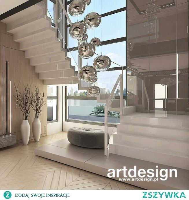 Nowoczesne Białe Schody Dywanowe Power Of Design Wnętrza