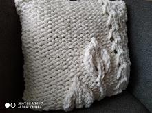 Ręcznie robiona poszewka na poduszkę 40 /40cm