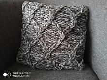 Piękna ręcznie robiona poszewka na poduszkę 40 /40cm