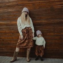 Sweter Leaf Mama & Dziecko