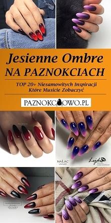 Jesienne Ombre na Paznokcia...