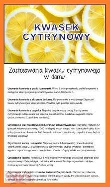 Zastosowanie kwasku cytryno...