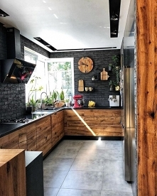 W takiej stylowej kuchni można poszaleć ! ;>