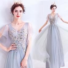 Eleganckie Szary Sukienki W...