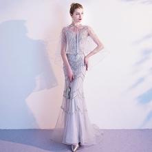 Luksusowe Szary Sukienki Wi...