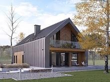 Projekt domu POGODNY - nowoczesna bryła w stylu współczesnej stodoły wykończo...