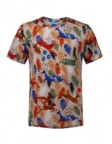 t-shirt męski z wełny merin...