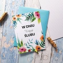 "Kartka Ślubna ""Floral&..."