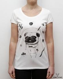 Koszulka damska z Mopsem w ...