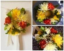 Sztuczne kwiaty, sznurek i ...