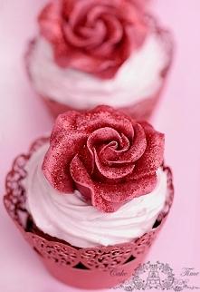 walentynkowe babeczki z rozami