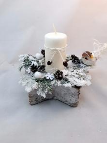 Stroik świąteczny ze świecą...