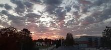 Wschód słońca, widok z moje...