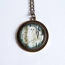 Medalion, naszyjnik - Biała...