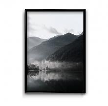 Jezioro we mgle - plakat