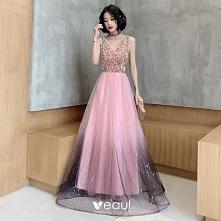 Moda Cukierki Różowy Sukien...