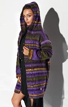 Lemoniade Ciepły sweter z kapturem fioletowy LSG103