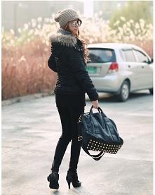 Jesienna stylizacja. Kliknij w zdjęcie i zobacz gdzie kupić tę torebkę, OKAZJA! ;)
