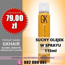 Global Keratin GKhair cena 79zł suchy olejek 115ml dry oil shine spray sklep ...