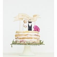 Drewniane figurki na tort z...