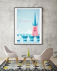 Sztokholm - vintage plakat ...