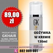 Global Keratin GKhair cena 89zł odżywka w kremie 130ml leave in cream sklep w...