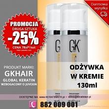 Promocja Global Keratin GKhair odżywka w kremie 130ml leave in cream sklep wa...
