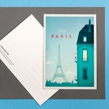Paryż - retro pocztówka