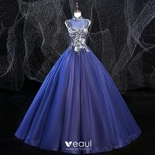 Vintage Królewski Niebieski...