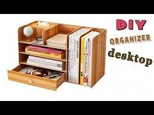 DESKTOP ORGANIZER FROM CARTON ADORABLE IDEA // Cute Organizer Tutorial