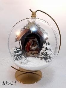 Bombka z szopką bożonarodze...
