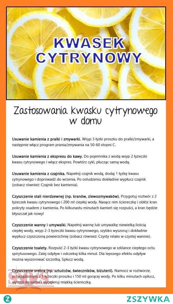 Zastosowanie kwasku cytrynowego