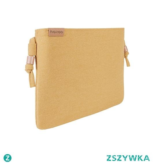 Nodo Bag musztardowa / kopertówka z paskiem
