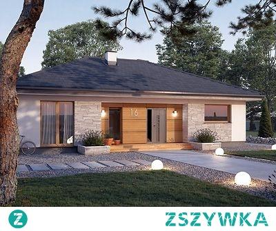 Projekt domu AWOKADO - dom w stylu nowoczesnym na rzucie prostokąta z możliwym wejściem od południa bądź północy.