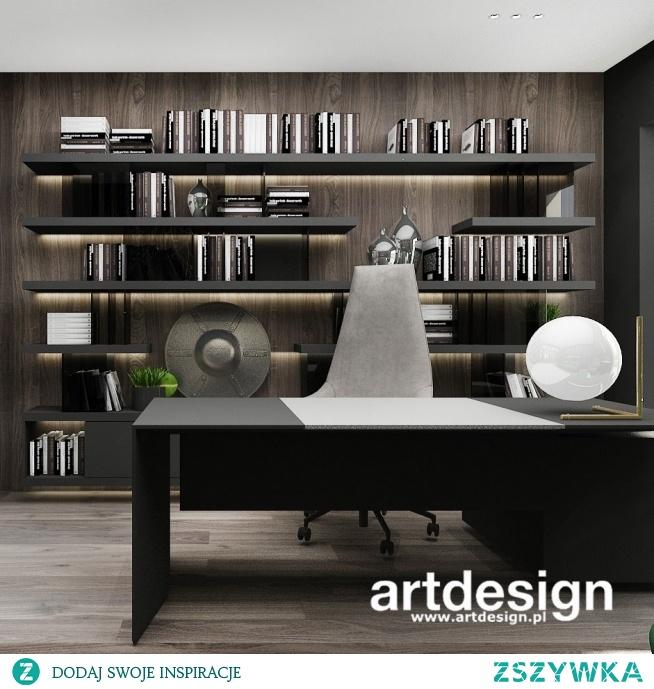 Nowoczesny gabinet - domowe biuro w eleganckim stylu | PURE GENIUS | Wnętrza domu