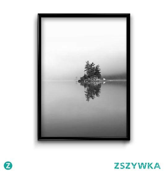 Jezioro we mgle #2 - plakat