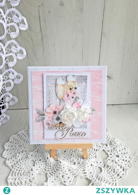 Kartka ślubna w pudełeczku Marry Me 1 GOTOWA