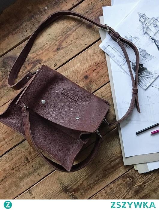 Boxy Bag L Aubergine - dwuczęściowa torebka