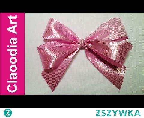 Podwójna kokardka, krok po kroku (simple double bow, ribbon)