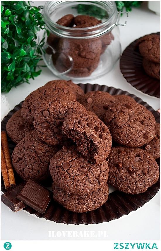 Mocno czekoladowe ciastka