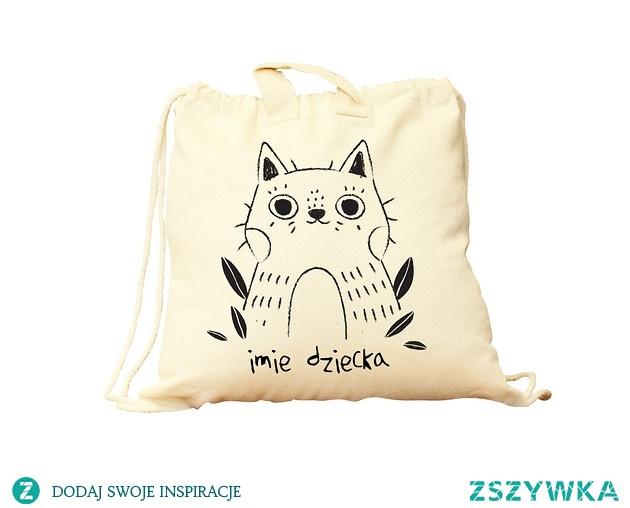Plecak bawełniany dla przedszkolaka (imię)