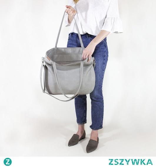 Pacco bag torebka jasnoszary tekstura vegan