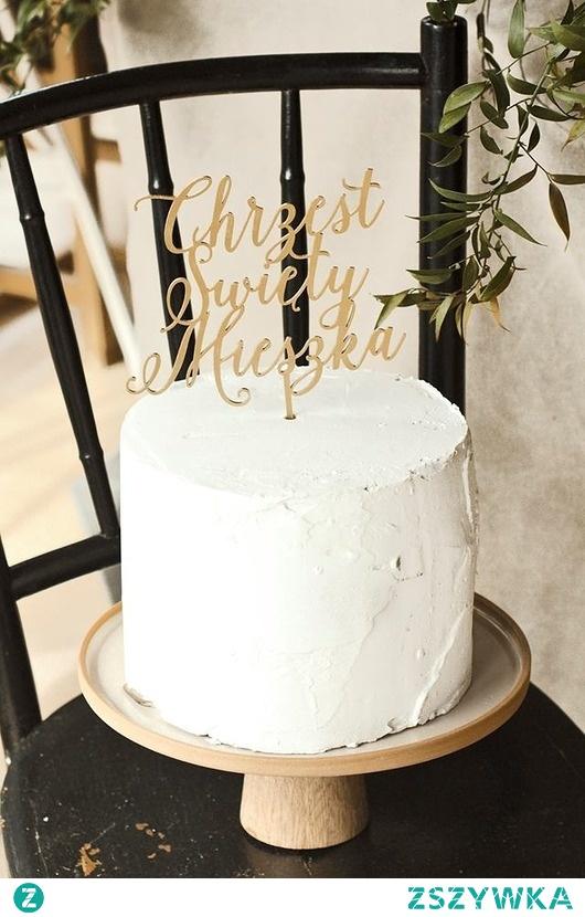 Spersonalizowany cake topper złoty