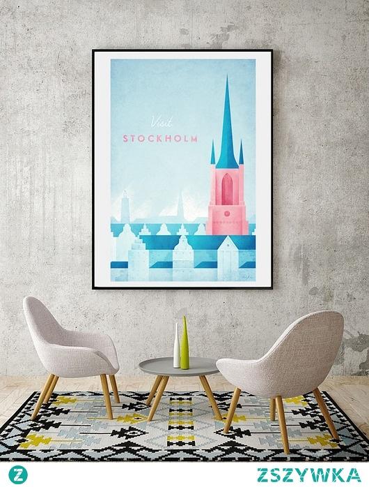 Sztokholm - vintage plakat 50x70 cm