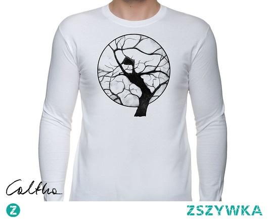 Drzewo - męska koszulka z długim rękawem