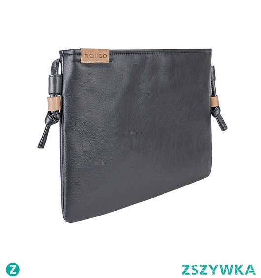 Nodo Bag czarna torebka / kopertówka z paskiem