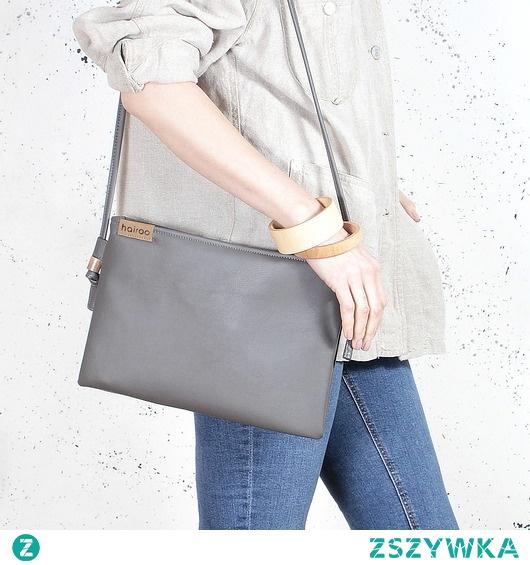 Nodo Bag szara torebka / kopertówka z paskiem