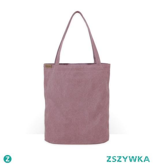 Shopper bag XL różowa torba z grubej bawełny